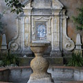 Fountain At Mission Carmel by Jeanie Watson