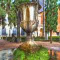 Fountain At National Roman Museum by Darin Williams