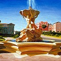 Fountain In Piazza Bocca Della Verita by Gary  Hernandez
