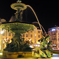 Fountain In Rossio Square by Jose Elias - Sofia Pereira