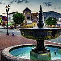 Fountain In Small Town by Jim Archer