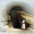 Fountain Of Siloam Valley Of Jehosophat 1842 by Munir Alawi