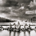 Fountain With Sea Gods At The Palace Of Versailles In Paris by Simon Marsden