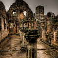 Fountains Abbey In Pouring Rain by Dennis Dame