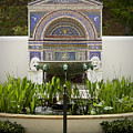 Fountains At The Getty Villa by Teresa Mucha