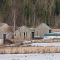 Four Barns by Esko Lindell
