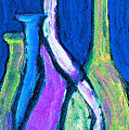 Four Bottle Abstract by Wayne Potrafka