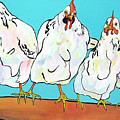 Four Clucks II by Pat Saunders-White