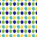 Four Dreidels Pattern- Art By Linda Woods by Linda Woods