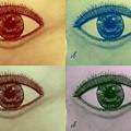 Four Eyes In Pop Art by Debra Lynch