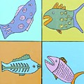 Four Fish by Artists With Autism Inc