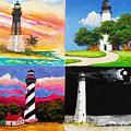 Four Florida Lighthouses by Anne Marie Brown