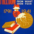 Four Freedoms, 1941 by Granger