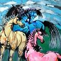 Four Horses by Weidong Wang