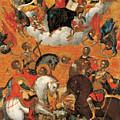 Four Military Saints by Michail Damaskinos
