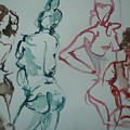 Four Nude Figures by Aleksandra Buha