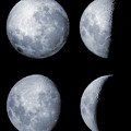 Four Phases Of The Moon by Rolf Geissinger