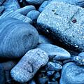 Four Rocks In Blue by Weston Westmoreland