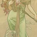Four Seasons Spring, 1900 by Alphonse Marie Mucha