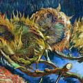 Four Sunflowers Gone To Seed, By Vincent Van Gogh, 1887, Kroller by Peter Barritt
