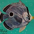 Foureye Butterflyfish by Emily Reynolds Thompson