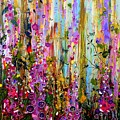 Foxgloves Panel One by Angie Wright