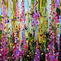 Foxgloves Panel Two by Angie Wright
