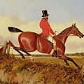 Foxhunting - Clearing A Bank by John Dalby