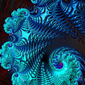 Fractal Art - Blue Wave by HH Photography of Florida