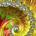 Fractal Spiral Three by Mo Barton