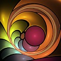 Fractal With Orange, Yellow And Red by Issabild -