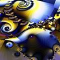Fractured Fractal Spirals  by Ron Bissett