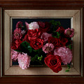 Framed Bouquet Of Flowers by David Thompson