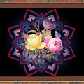 Framed Rose Bouquet Montage by Clive Littin