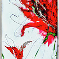 Framed Scribbles And Splatters On Canvas Wrap by Lisa Kaiser