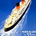 France Cruise Vintage Travel Poster Restored by Carsten Reisinger