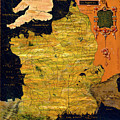 France Map by Italian painter of the 16th century