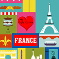 France Vertical Scene - Collage by Karen Young
