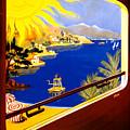 France Vintage Travel Poster Restored by Vintage Treasure