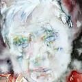 Francis Bacon - Watercolor Portrait.2 by Fabrizio Cassetta