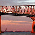 Francis Scott Key Bridge At Sunset Baltimore Maryland by Wayne Higgs