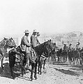 Francisco Pancho Villa (1878-1923). Mexican Revolutionary Leader. Photographed While Reviewing Troops, C1914 by Granger