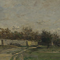 Francois Daubigny   The Garden Wall by PixBreak Art