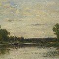Francois Daubigny   View On The Oise by PixBreak Art