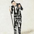 Frank Sinatra Typography Art by Inspirowl Design