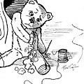 Frank The Bear All Stitched Up by Rene Capone