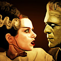 Frankenstein And The Bride I Have Love In Me The Likes Of Which You Can Scarcely Imagine 20170407 by Wingsdomain Art and Photography
