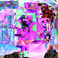 Frankenstein In Abstract Cubism 20170407 Square by Wingsdomain Art and Photography