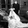 Frankenstein Monster Sneaks Up On Bride 1931 Movie by R Muirhead Art