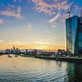 Frankfurt Am Main Skyline At Sunset by JR Photography